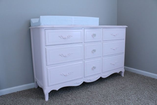 Front Porch Lemonades: Nursery Changing Table Redo-Behr's sweet nothing