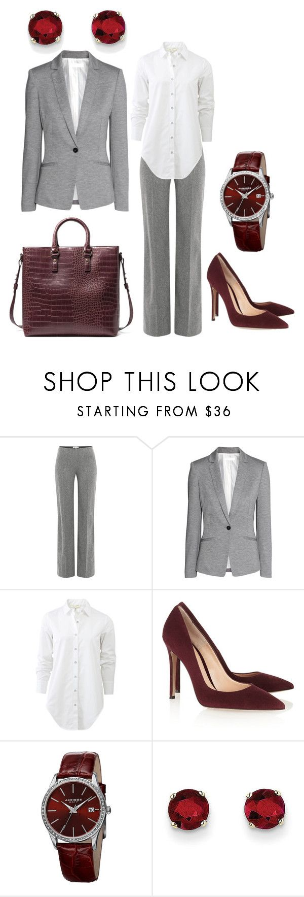 Классика Груша by gala-bell on Polyvore featuring rag & bone, H&M, Paule Ka, Gianvito Rossi, Kevin Jewelers, Akribos XXIV, women's clothing, women's fashion, women and female