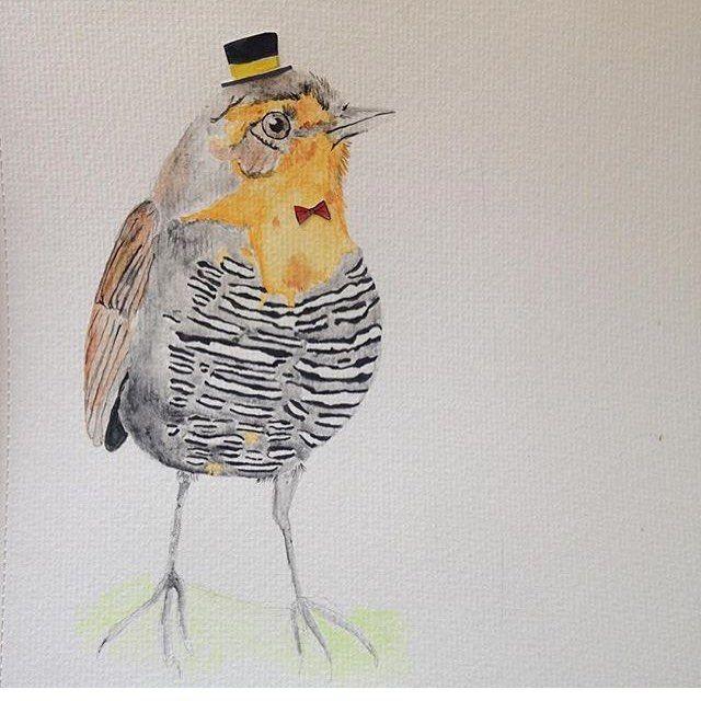 Ay, Sir Chucao.  .  .  .  #chucao #ilustracion #illustration #ilustradoraschilenas #kidsillustration #bird #chucao #watercolor #watercolorillustration #watercolour #acuarela #aquarelle #handmade #hechoenchile #handdrawn #drawn #drawing #chile #Santiago #instabird #lategram #wasserfarben #farben #colors #colores