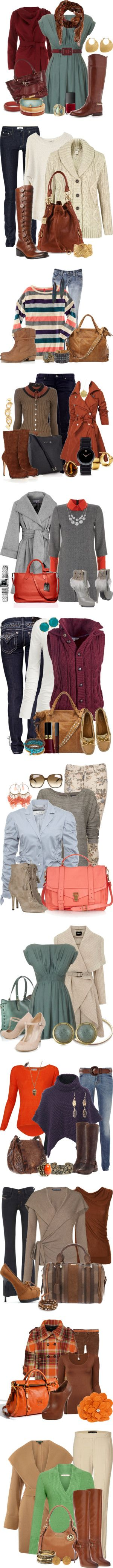 Fall outfits! I like most of them!