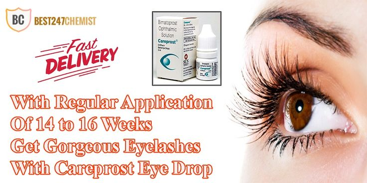 Careprost eye drop is a well-known ophthalmic solution, which is specially suggested for treating hypotrichosis (short eyelashes) or glaucoma. It is absolutely safe, active and efficiently treat short eyelash problem by making your eyelashes thicker, longer and darker.