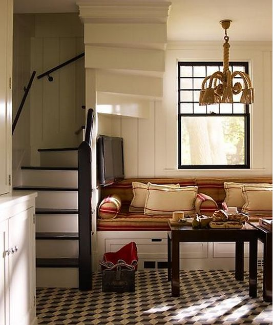 Stairs For Small Areas: {could Work As A Basement Living Area Also}