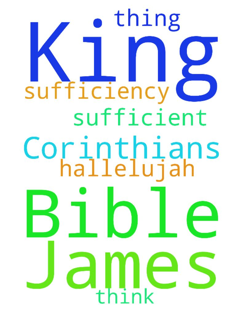 King James Bible 2 Corinthians 3:5  Not that we are -  King James Bible 2 Corinthians 35 Not that we are sufficient of ourselves to think any thing as of ourselves; but our sufficiency is of God; Hallelujah Posted at: https://prayerrequest.com/t/JWX #pray #prayer #request #prayerrequest