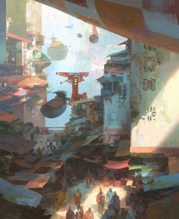 Theo Prins is a freelance concept artist based in Washington. True digital painter he draws on his travels, particularly in Asia, to recreate real urban environments but sometimes fantastic atmosphere close to science fiction. He is currently working on a project to make stereoscopic paintings visible in three dimensions.