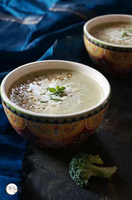 Cream of Broccoli Soup with Chives   Healthy Broccoli Soup » The Secret Ingredient