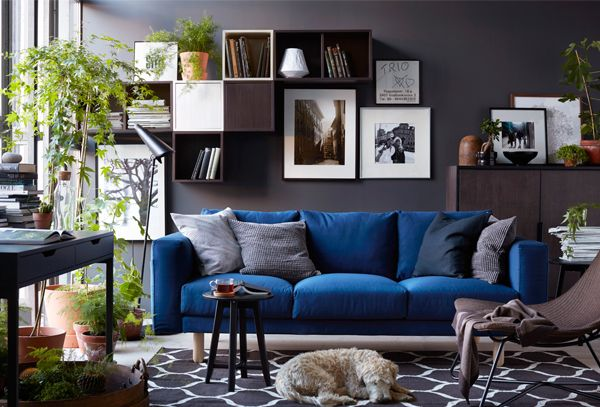 sofa NORSBORG from IKEA | via trendspanarna