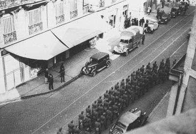 Arrivée des soldats Allemands Cours Pasteurs