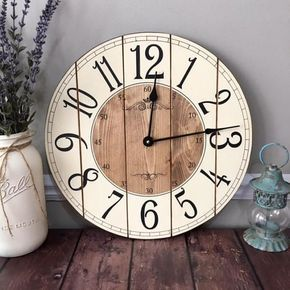16 Inch Farmhouse Clock Rustic Wall Clock Small Wall Clock