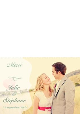 nouvelles cartes de remerciement mariage avec votre propre texte et vos propres photos - Remerciement Mariage Texte