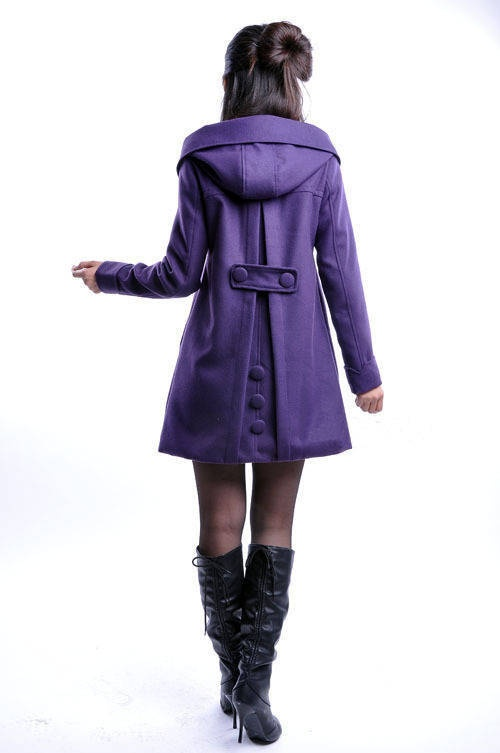 Purple Coat - and great boots too :)
