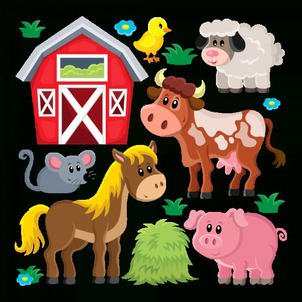 15 Farm Animals Png Farm Animals Cute Animal Clipart Baby Farm Animals