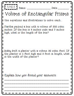 volume word problems 5th grade common core out in left field august 20135 md 5 classroom. Black Bedroom Furniture Sets. Home Design Ideas