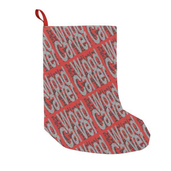 Wood Carver Extraordinaire Small Christmas Stocking #stocking #christmas #sock #xmas