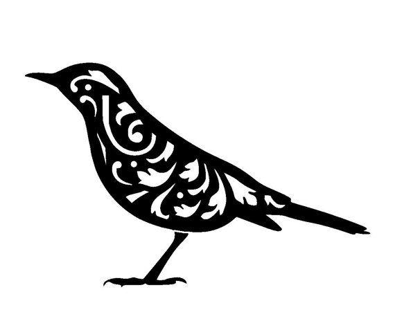 6/6 Vintage bird design 1 stencil template. by LoveStencil on Etsy