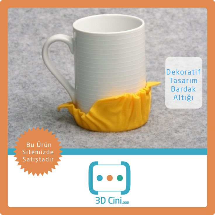 Şık Tasarımlı Bardak Altlığınızın Rengini Siz Seçin! www.3dcini.com #3DPrinterÜrünleri #3DBaskı #3DPrinter