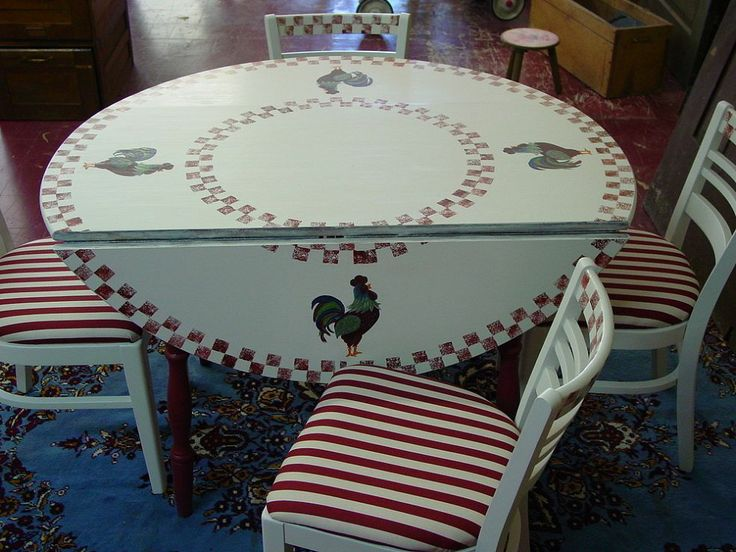 Found This Table U0026 Chairs At A Yard Sale.....painted It U0026 Reupholstered The  Chairs