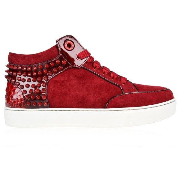 Royaums Kilian Mid Top Trainers ($500) ❤ liked on Polyvore featuring men's fashion, men's shoes, men's sneakers and mens studded shoes
