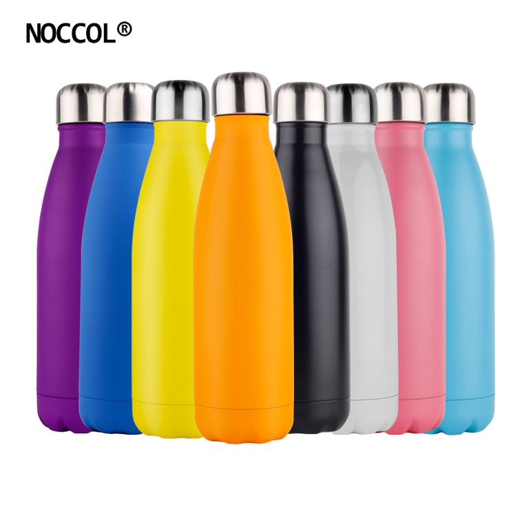 buy noccol 500ml candy color vacuum water bottle thermos high quality sports #insulated #stainless #steel #water #bottle
