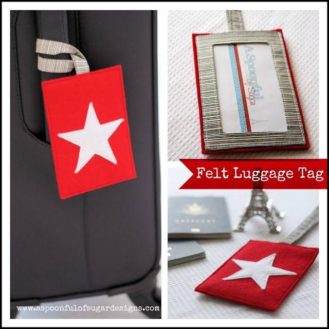 Felt Luggage Tag Tutorial