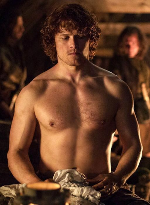 Sam Heughan shirtless body...                                                                                                                                                                                 More