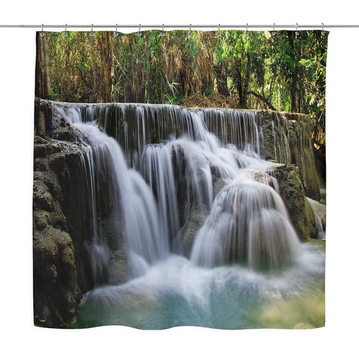 Kuang Waterfall Shower Curtain