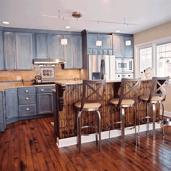 Nautical Ish Kitchen. Lovely.