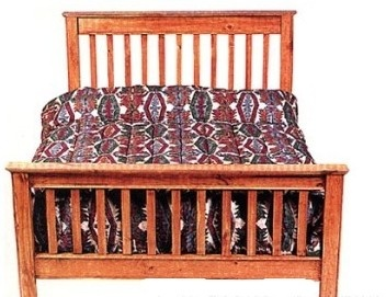 Canadian Woodcraft  - Pilgrim Slat Bed, $955.00 (http://www.canadianwoodcraft.ca/bedroom/pilgrim-slat-bed/)