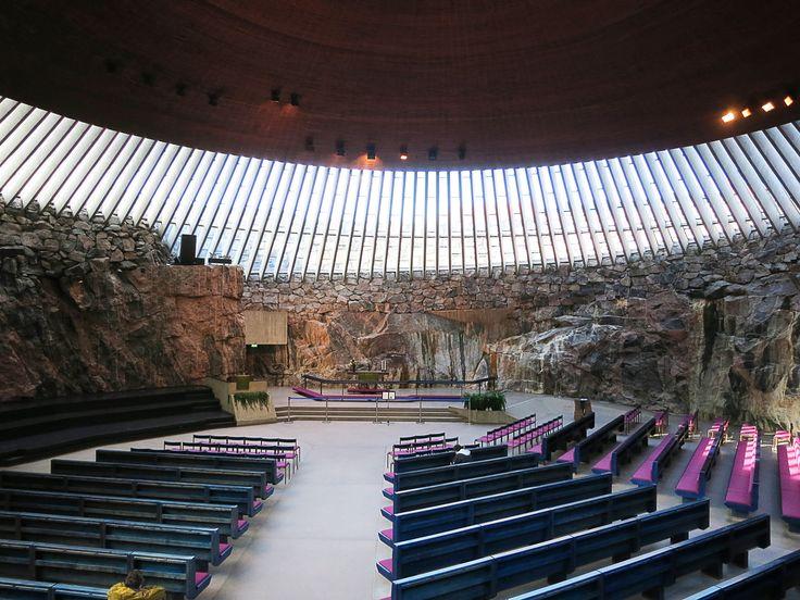 awesome Temppeliaukio church in Helsinki, Finland (by Savier)