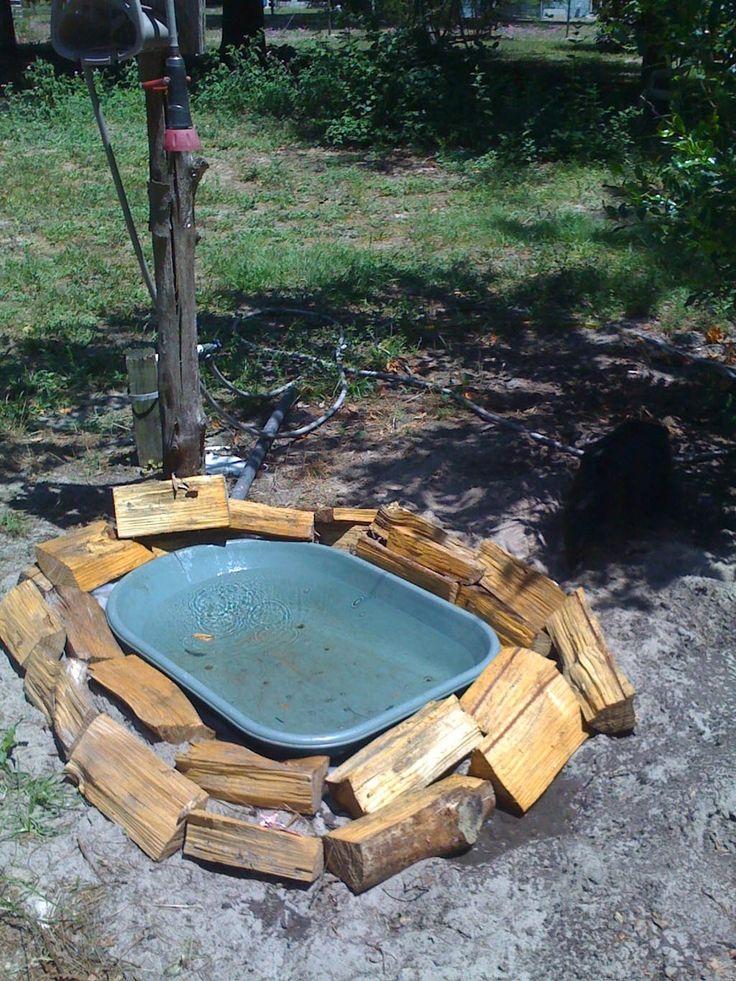 Homemade Heated Bird Bath