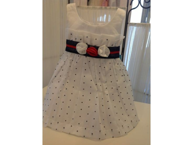 Βαπτιστικό φόρεμα πουά