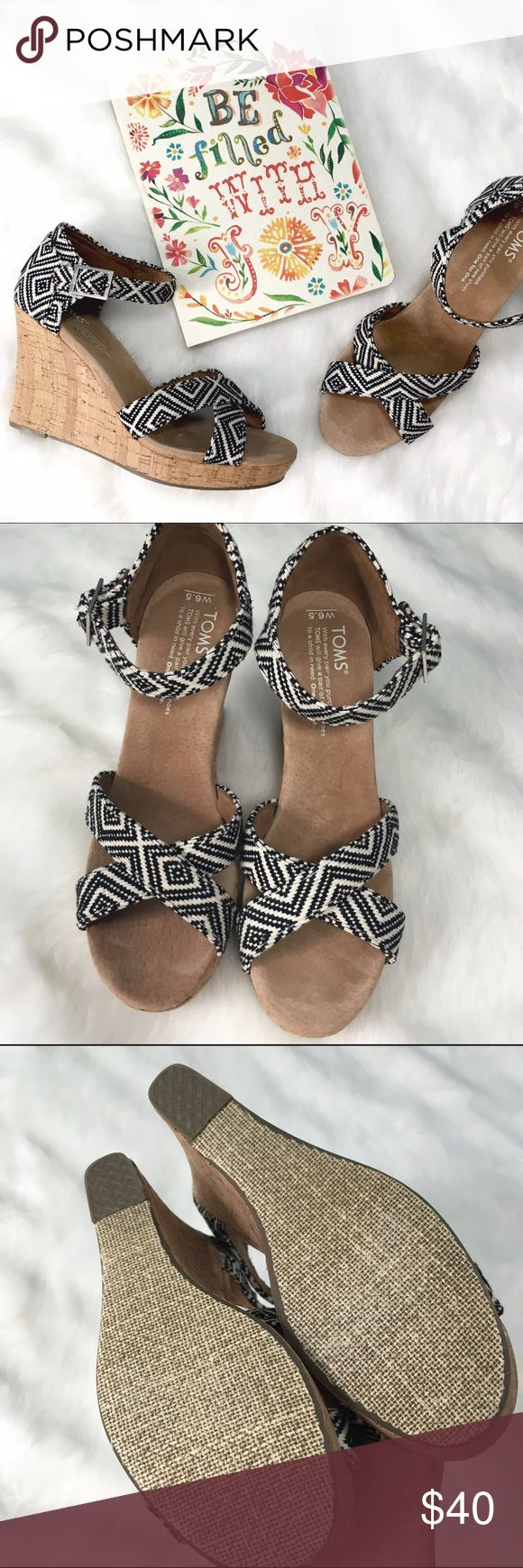 NWOT TOMS Espadrille Near perfect condition, never worn, no flaws! Perfect with new shorter hemlines for pants, or to have a stable heel with your favorite dress. Toms Shoes Wedges