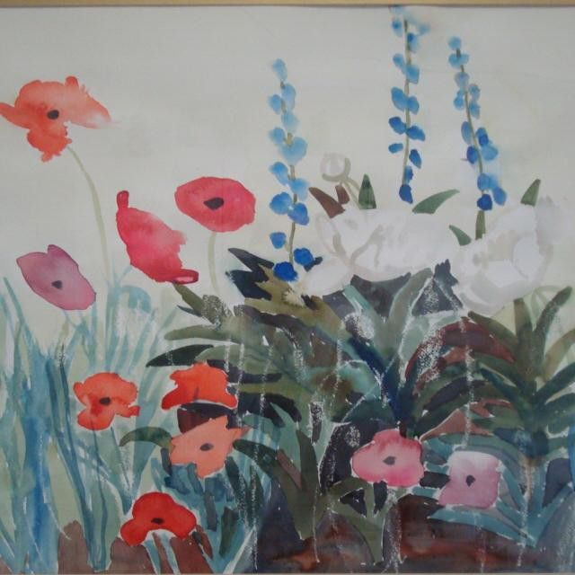 #poppies is still #available. I love the #subtle yet vibrant colors in this #watercolor #painting. Take your pick. #original, #print or a #handembellishedprint. Feel free to #contact us and make sure to #follow @nadia_art_gallery.