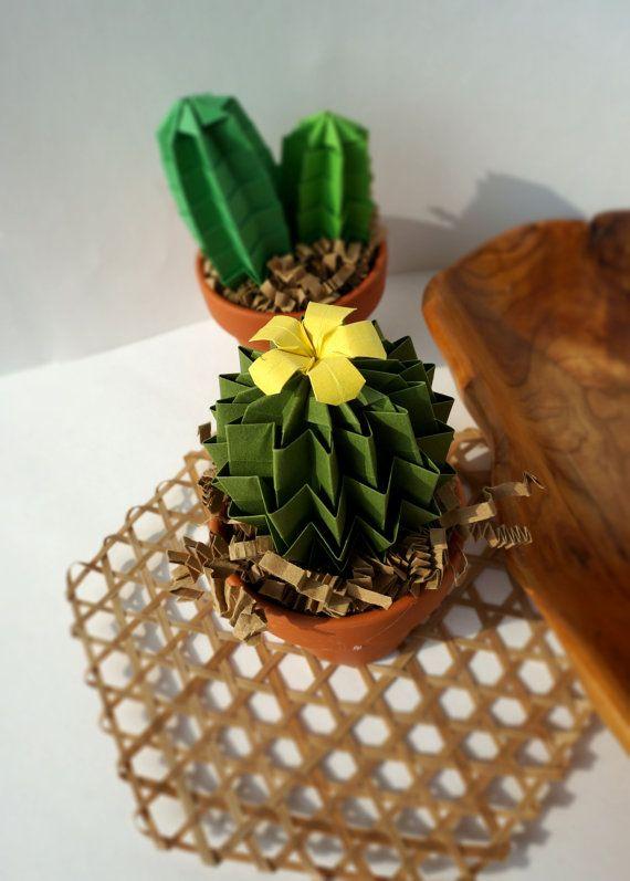 Forever Green Origami Lemon Yellow Blossom Cactus by JoyfulArray