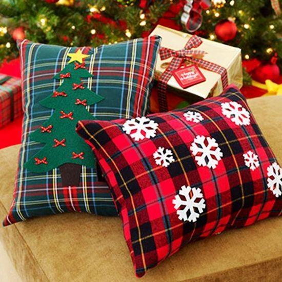 Plaid christmas throe pillows scottish plaid christmas pillows case # christmas #pillow #handmade & 38 best Cute Christmas Handmade Pillows images on Pinterest ... pillowsntoast.com