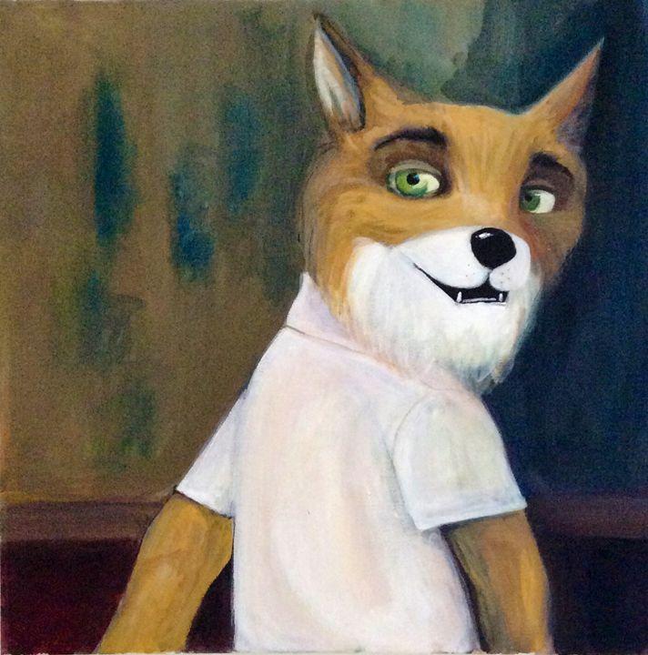The Fantastic Mr Fox - Alice Looking Thru Glass