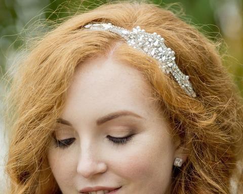 Vintage Side Headpieces - Jewelled Embellished Appliqué Headband, Blake