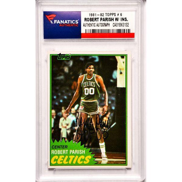 Robert Parish Boston Celtics Fanatics Authentic Autographed 1981-82 Topps #6 Card with HOF 03 Inscription - $49.99