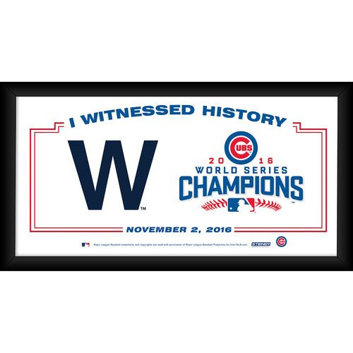 Chicago Cubs 4x8 Framed 2016 World Series I Witnessed History Collage- 2016 World Series Champs