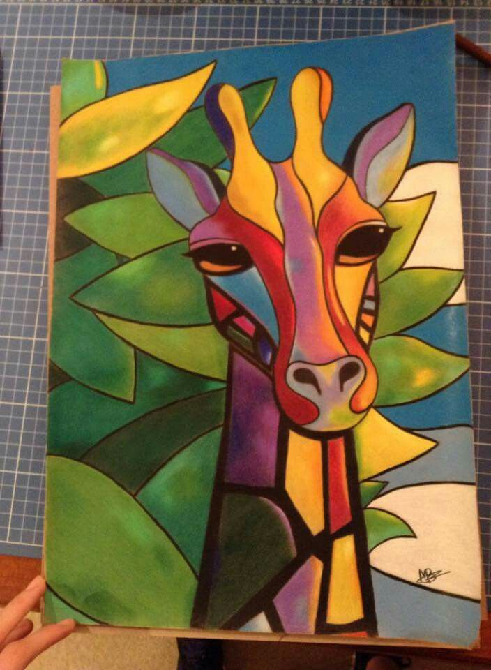 Giraffe #drawing #prismacolor