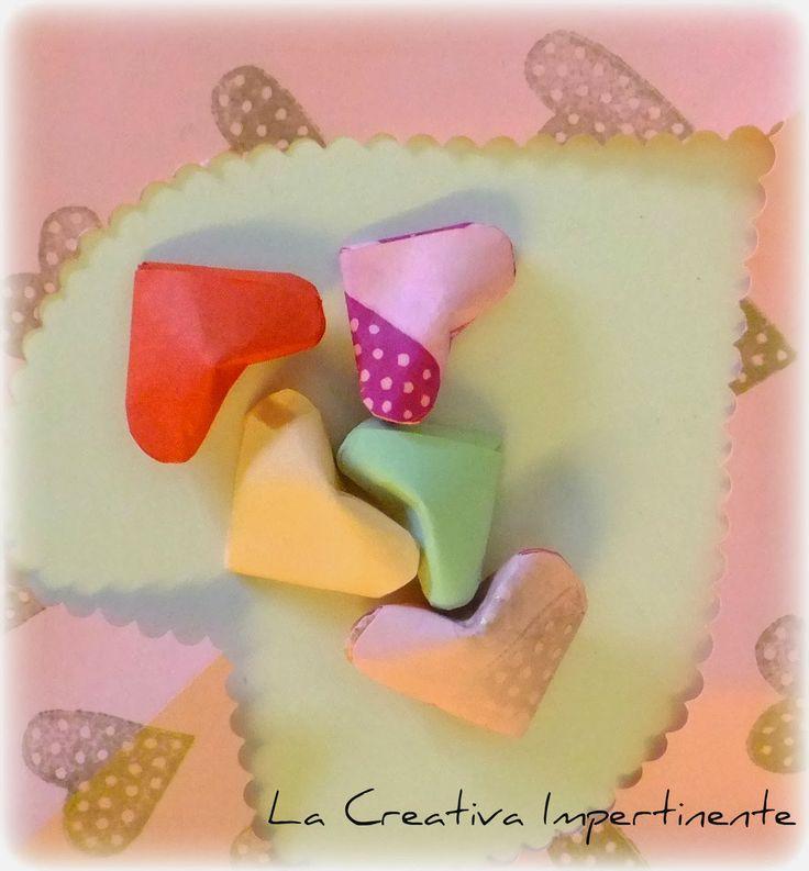 La Creativa Impertinente: Cuoricini paffuti con la carta : piccole decorazioni per San Valentino