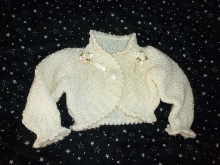 Little girls crochet shrug