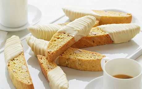 Almond and Lemon Biscotti with White Chocolate Recipe by Giada De Laurentiis