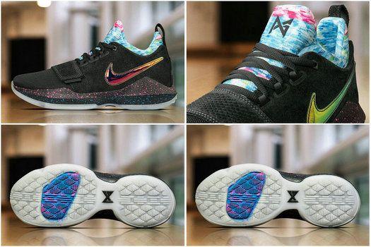 Popular 2017 New Basketball Style Nike PG 1 EYBL April 8 2017 Iridescent Nike Swoosh logo