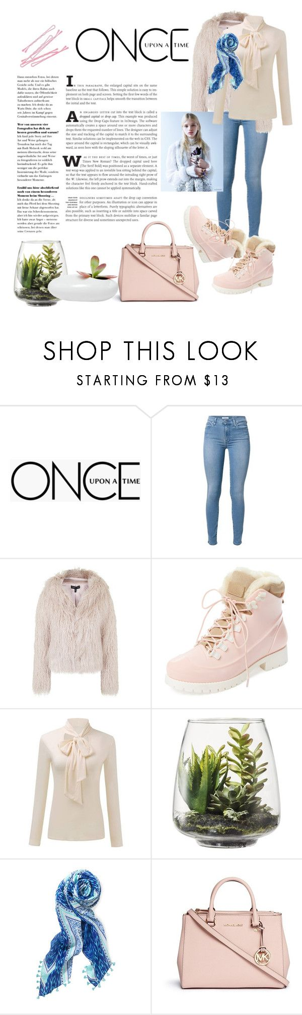 """""""Serene"""" by megalyssa ❤ liked on Polyvore featuring Once Upon a Time, Topshop, Australia Luxe Collective, Threshold, Stella & Dot, BOBBY, Michael Kors, Dot & Bo, Pink and sandrose"""