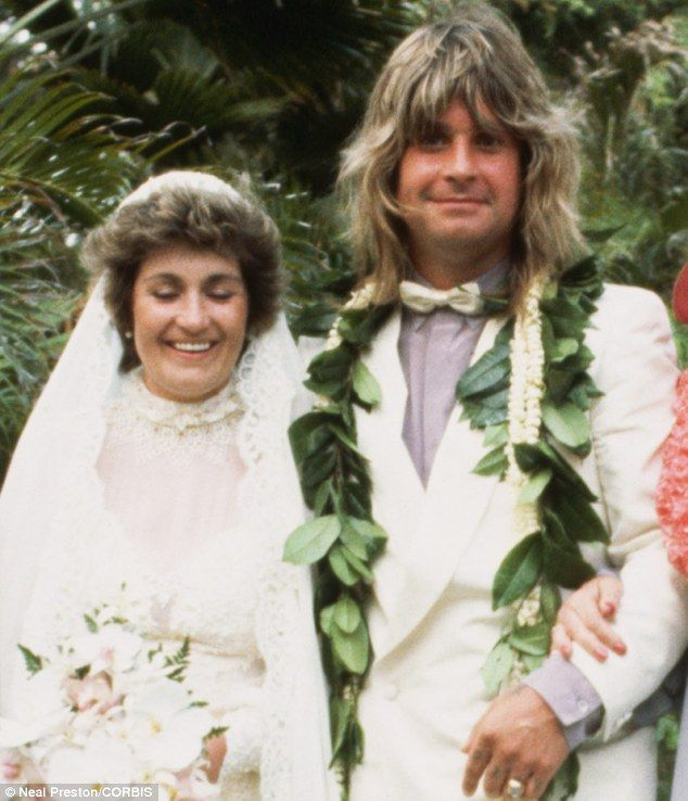 The Osbournes at their 1982 wedding in Hawaii   | Mail Online