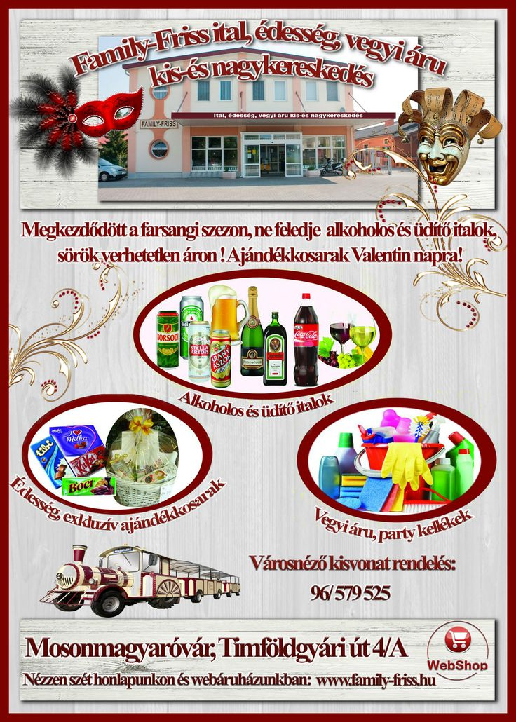 Sörök, borok, üdítők, ásványvizek, égetett szeszek, édesség,ajándékkosarak, műanyag poharak - tálcák partyra! Elegáns ajándékkosarak készítése minden alkalomra!