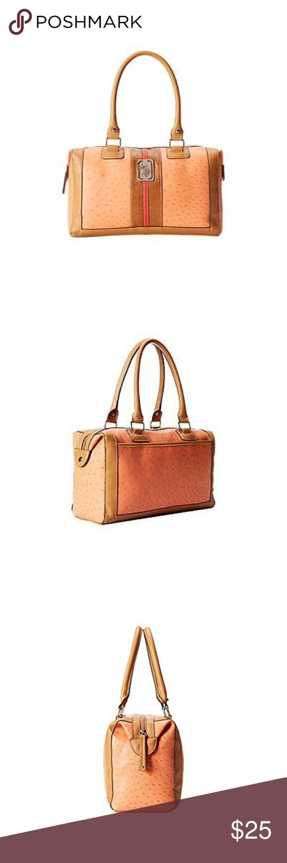 S. Polo Assn. Monty Orange Lined Purse Satchel S. Polo Assn. Monty Orange Lined Purse Satchel Handbag Medium.Manufacturer: U.S. Polo Assn. Size: Medium Manufacturer Color: Orange Combo Condition: New with tags Style Type: Satchel Collection: U.S. Polo Assn. Handle Type: Double Compartment: Open Slip Closure: Zipper Bag Height (Inches): 7 1/2 Inches Bag Width (Inches): 13 Inches Bag Depth (Inches): 5 1/2 Inches Strap Drop (Inches): 9 Inches Material: Vinyl/Polyester/Polyurethane Foam Fabric…