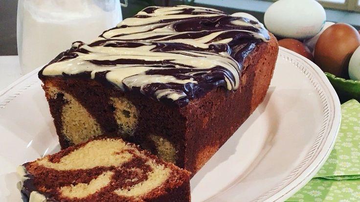 Nadiya Hussain's zebra cake