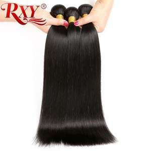 Indian Double Weft Long Straight Hair Bundles 100% Remy Human Hair Extension 10″-28″ 1/3/4 Bundles