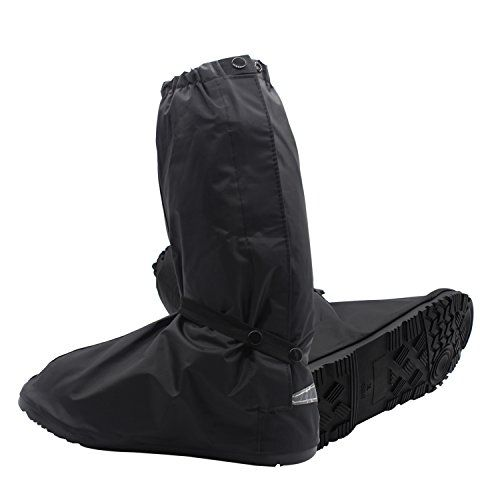 SHARBAY Adult Ultimate Waterproof Rainstorm Rainsuit Rainy Day Rain Gear Snow Motorcycle Bike Outdoor Protective Reusable Boot Shoes Cover with Side Zippered and Velcro (US 9.5-14.5) (Black, XXL). For product info go to:  https://www.caraccessoriesonlinemarket.com/sharbay-adult-ultimate-waterproof-rainstorm-rainsuit-rainy-day-rain-gear-snow-motorcycle-bike-outdoor-protective-reusable-boot-shoes-cover-with-side-zippered-and-velcro-us-9-5-14-5-black-xxl/